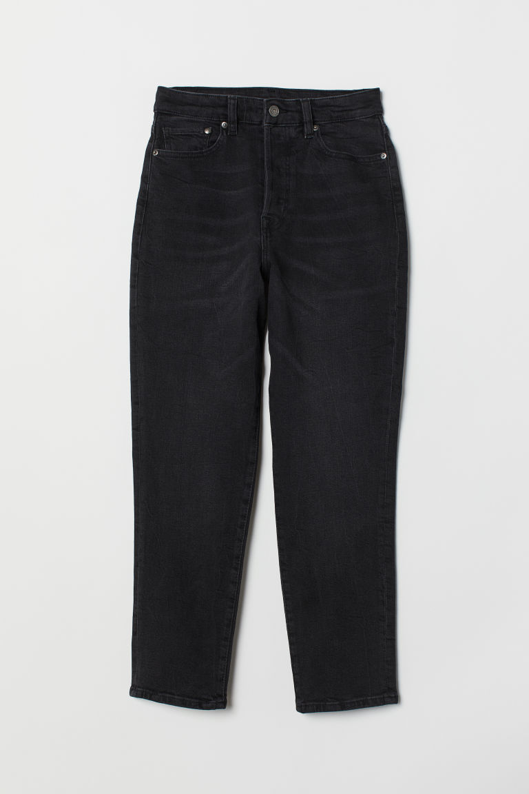 Mom Jeans - Black denim -  | H&M GB
