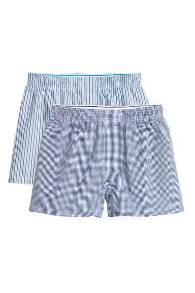 2-pack boxer shorts - Blue/Striped - Kids | H&M