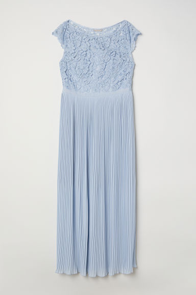 H&M+ Chiffon dress - Light blue - Ladies | H&M