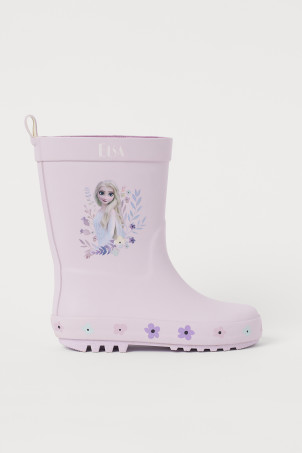 Rubber Boots with Motif