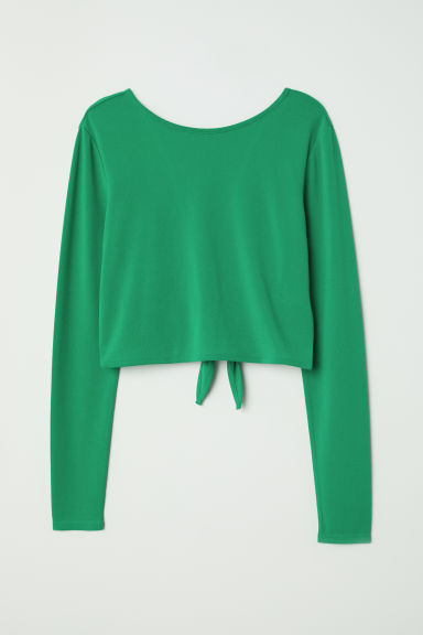 Top with V-neck Back - Green -  | H&M US