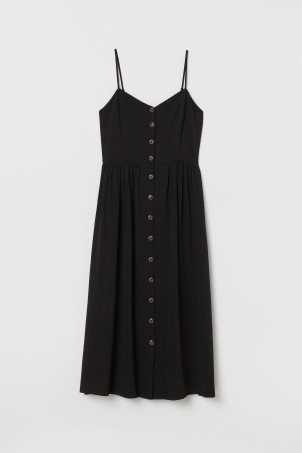 7d06129c7225 Dress with Buttons.  39.99. New Arrival. Black