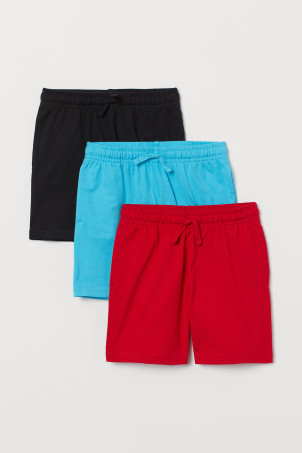 3-pack cotton jersey shorts
