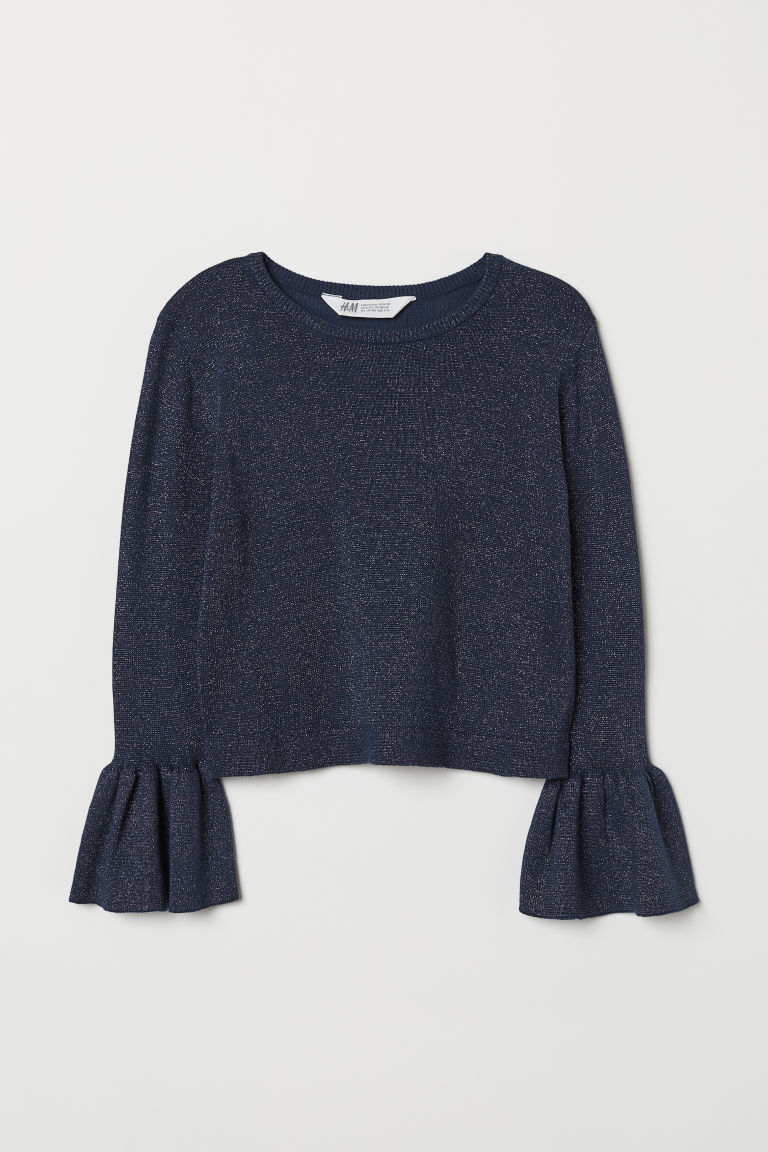 Jumper - Dark blue/Glittery - Kids | H&M