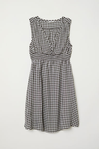 MAMA Patterned dress - Black/White checked -  | H&M CN