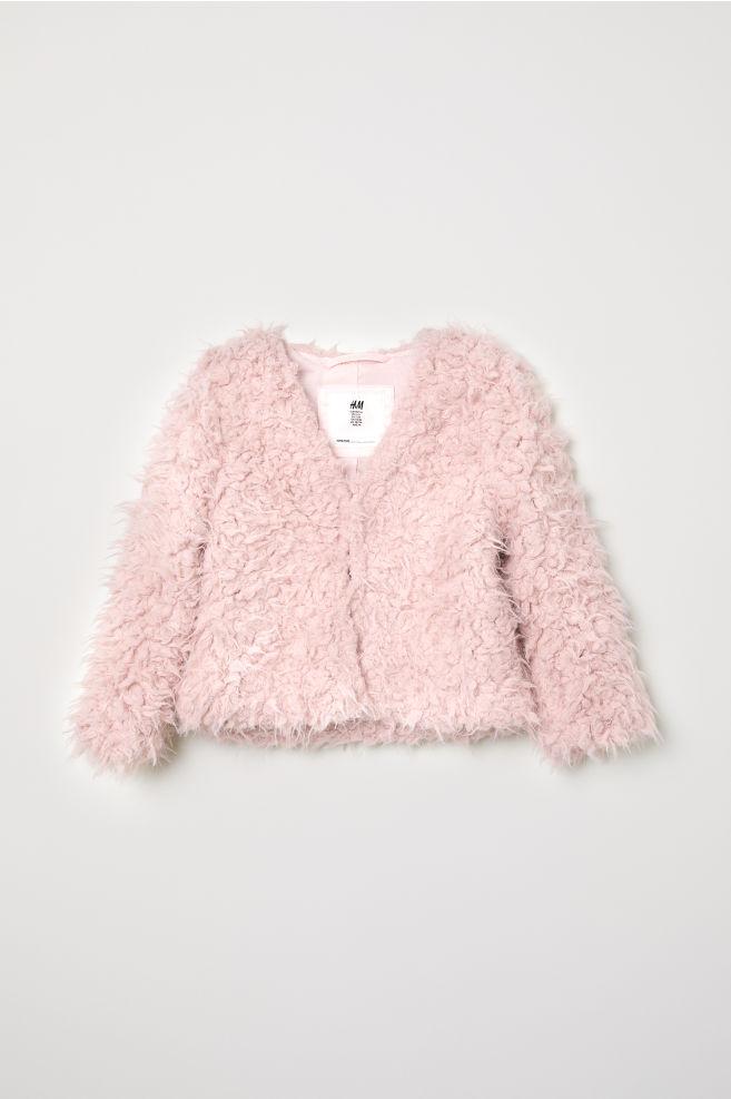 Faux Fur Jacket - Vintage pink - | H&M CA 4
