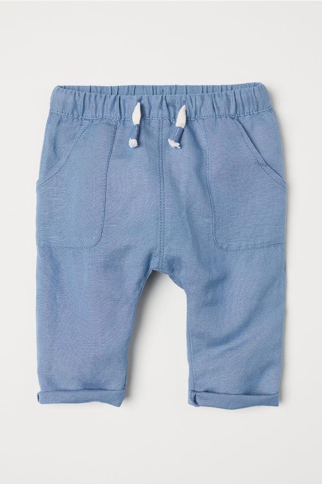 97d26dad24a0c Pantalon à taille élastique - Bleu - ENFANT   H&M ...