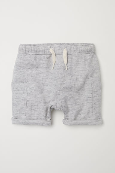 Cotton-blend shorts - Light grey marl - Kids | H&M CN