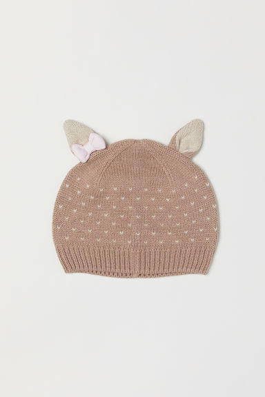 Hat with ears - Beige/Deer - Kids | H&M