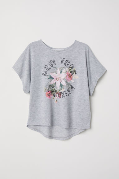 Wide top - Grey marl/New York - Kids | H&M