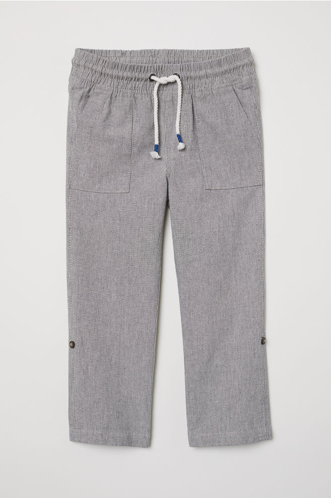 d6dd055ab Pull-on Pants - Gray/striped - Kids | H&M ...