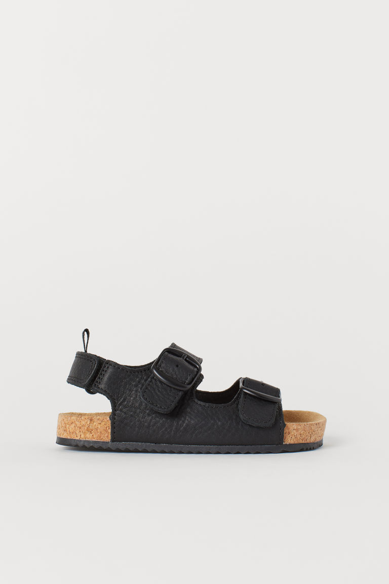 Leather sandals - Black - Kids | H&M GB