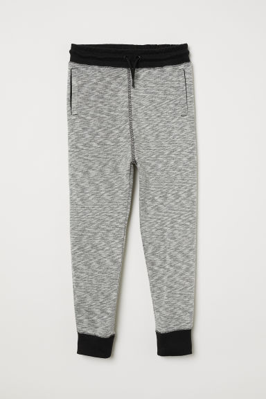 Marled joggers - Grey marl/Black - Kids | H&M