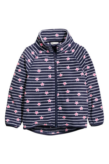 Fleece jacket - Dark blue/Stars -  | H&M CN