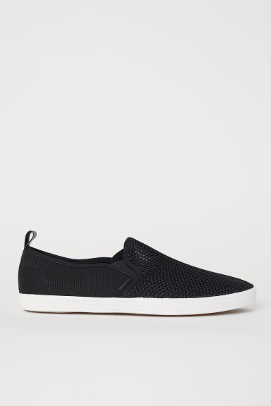 Slip-on trainers - Black - Men | H&M CN