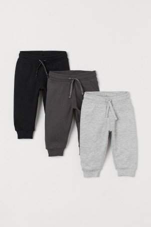3-pack cotton joggers