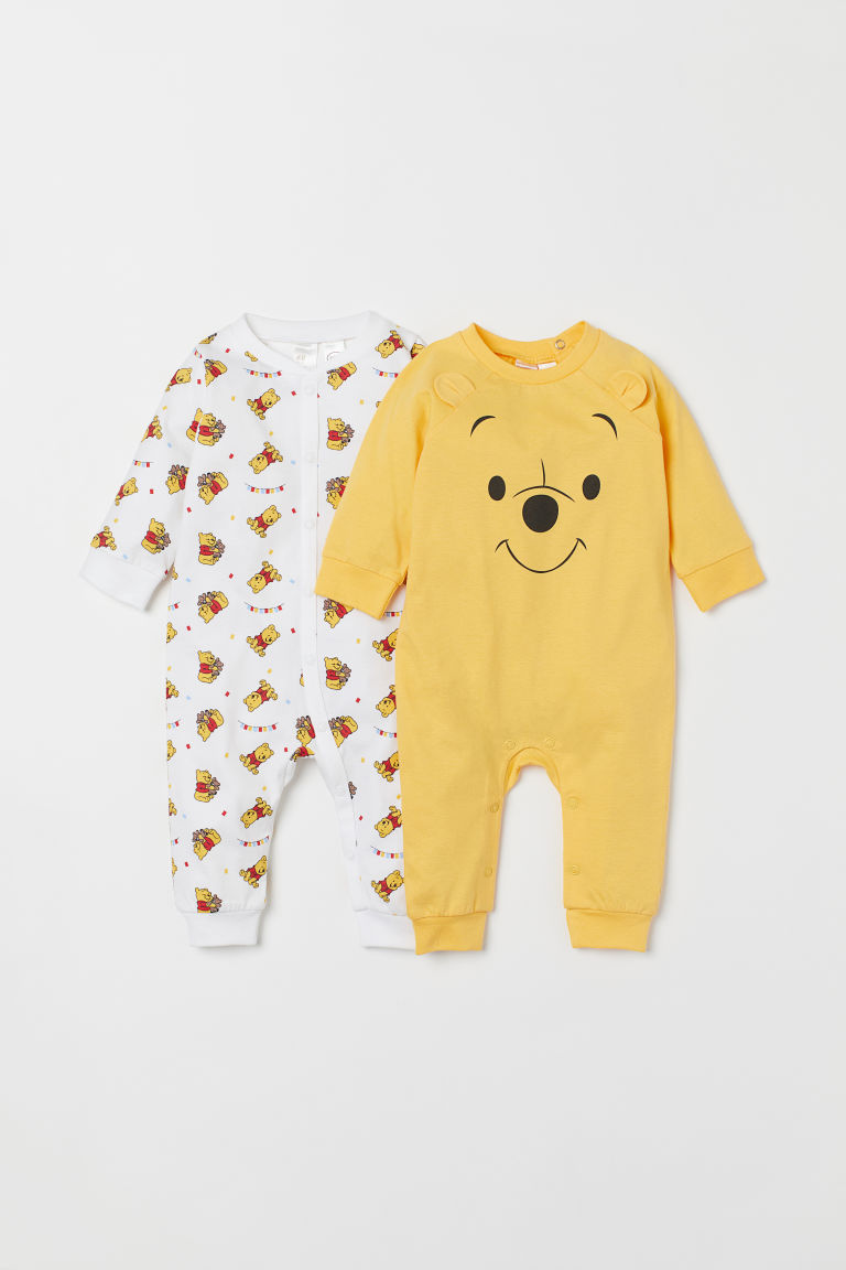 2-pack all-in-one pyjamas - Yellow/Winnie the Pooh - Kids | H&M