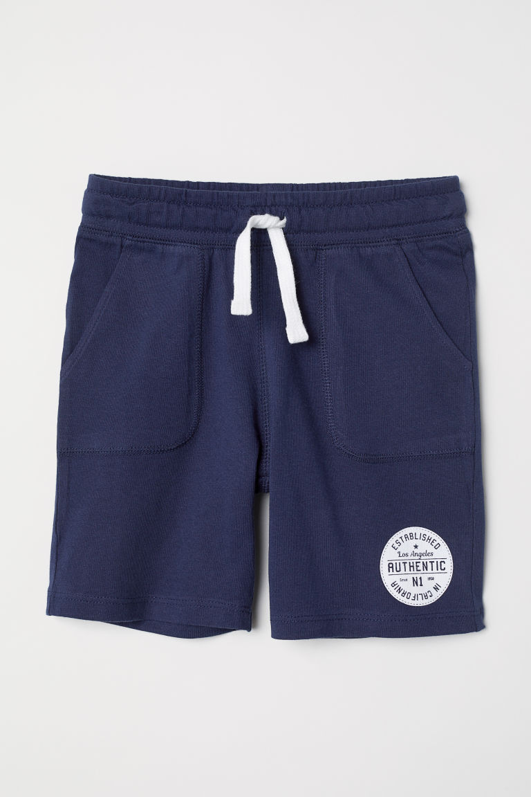 Jersey shorts - Dark blue - Kids | H&M CN