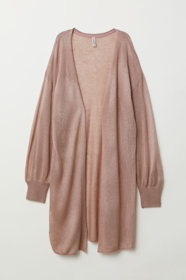 Cardigan a punto largo - Rosa antico scuro -  | H&M IT