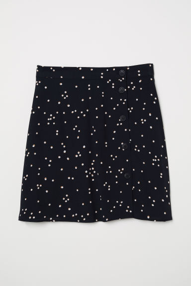 Crêpe skirt - Black/Spotted - Ladies | H&M