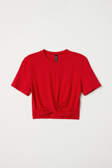Jersey Top with Knot Detail