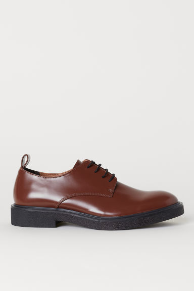 Derby shoes - Dark brown - Men | H&M CN