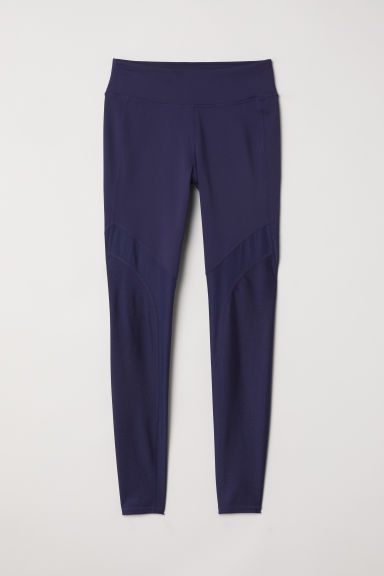 Sports tights - Dark blue - Ladies | H&M CN