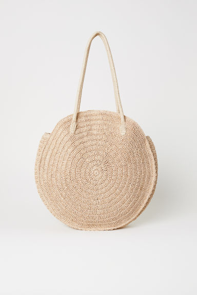 Round Straw Bag - Natural - Ladies | H&M US