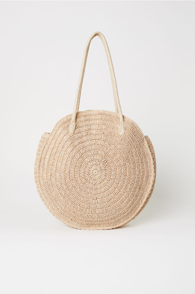 Round Straw Bag Natural Las H M