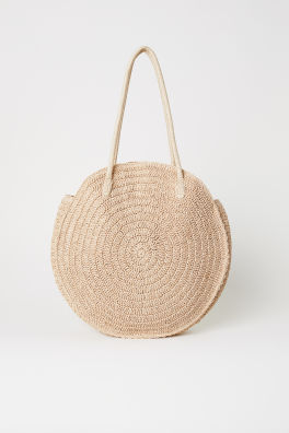 63d3632fbe40 Round Straw Bag. SAVE AS FAVORITE
