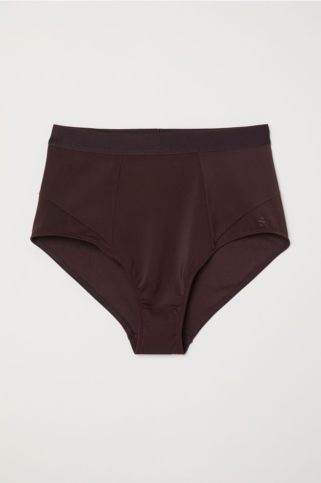 a497b4a018646 Bikini bottoms High Waist - Dark plum - Ladies | H&M ...