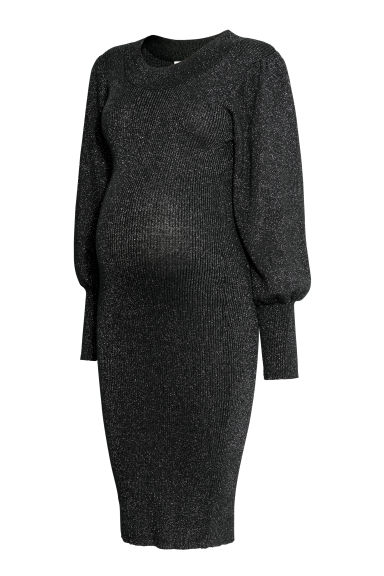 MAMA Glittery dress - Black/Glitter - Ladies | H&M CN