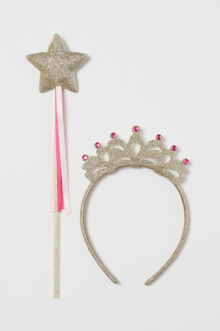 Alice band and wand - Gold-coloured/Pink - Kids | H&M CN
