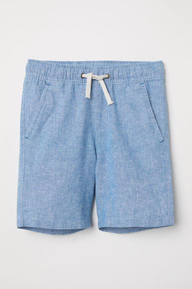 Woven shorts - Light blue -  | H&M