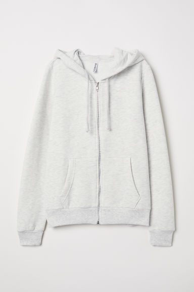 Sweat à capuche - Gris clair chiné -  | H&M FR