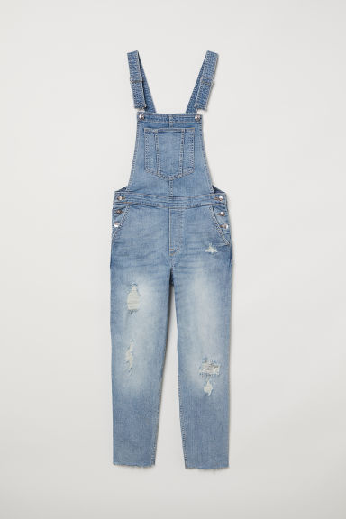 Denim dungarees - Bleu denim clair -  | H&M BE