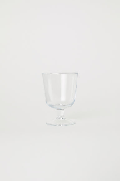 Stemmed wine glass - Clear glass - Home All | H&M CN