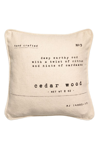 Text-print cushion cover - Natural white - Home All | H&M CN