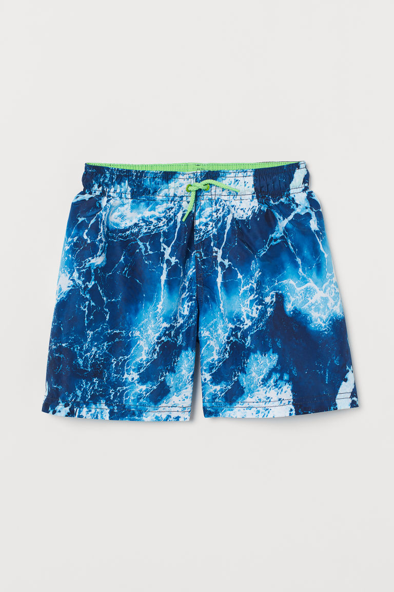Swim shorts - Dark blue/Patterned - Kids | H&M