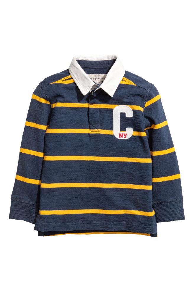 534510ab8f0 Rugby shirt - Dark blue/Yellow striped - Kids | H&M ...