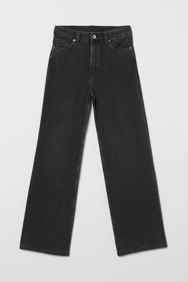 Wide Regular Jeans - 深灰色 -  | H&M CN