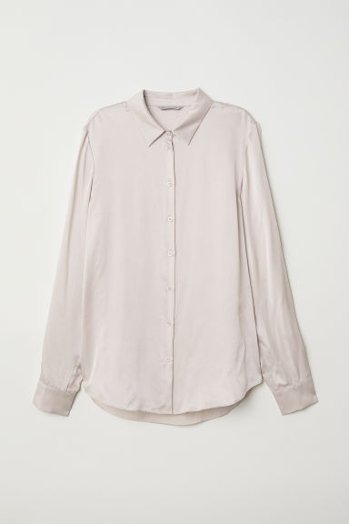 Silk shirt - Powder - Ladies | H&M