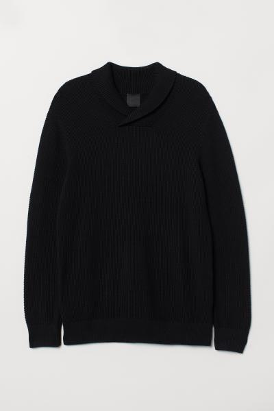 H&M - Shawl-collar jumper - 5
