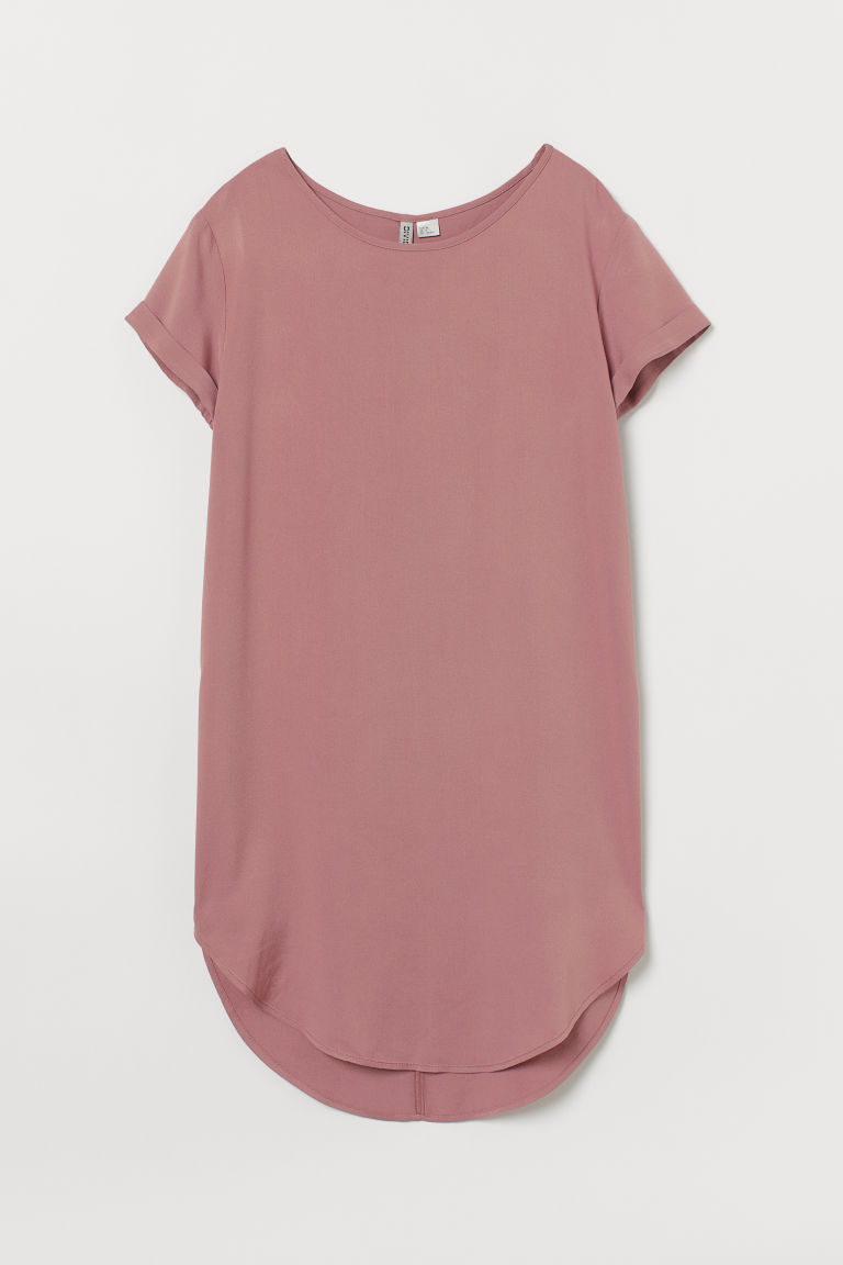 T-Shirt aus Viskose - Altrosa -  | H&M AT