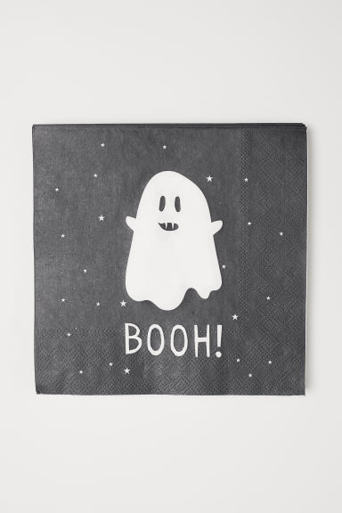 Paper Napkins - Dark gray/ghost - Home All | H&M CA