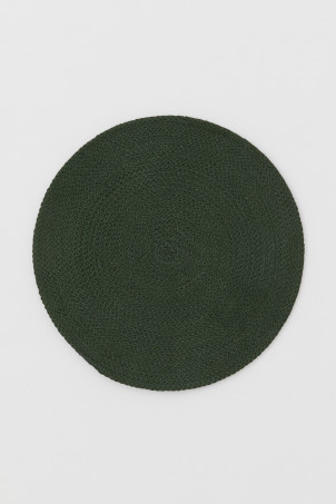 Round cotton table mat