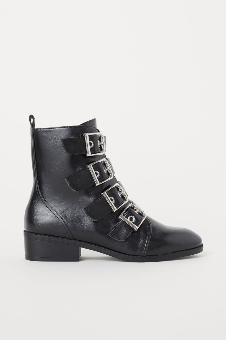 Boots with buckles - Black - Ladies | H&M IE