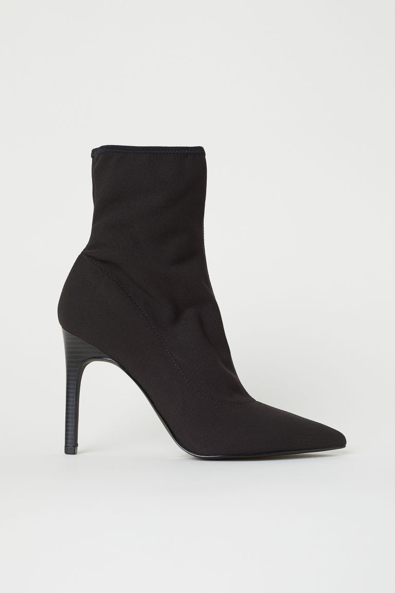 Jersey Ankle Boots - Dark gray - Ladies | H&M US