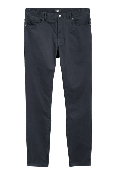 Cotton trousers Skinny fit - Navy blue - Men | H&M IE