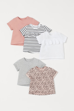 5-pack cotton tops